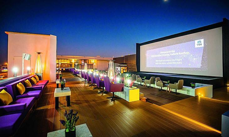 Vox Outdoor Rooftop Cinema an hidden attraction for entertainment in dubai