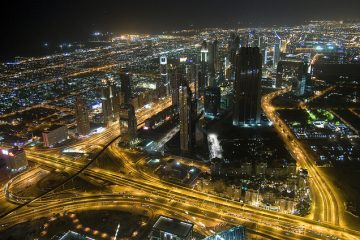 Dubai view In Night