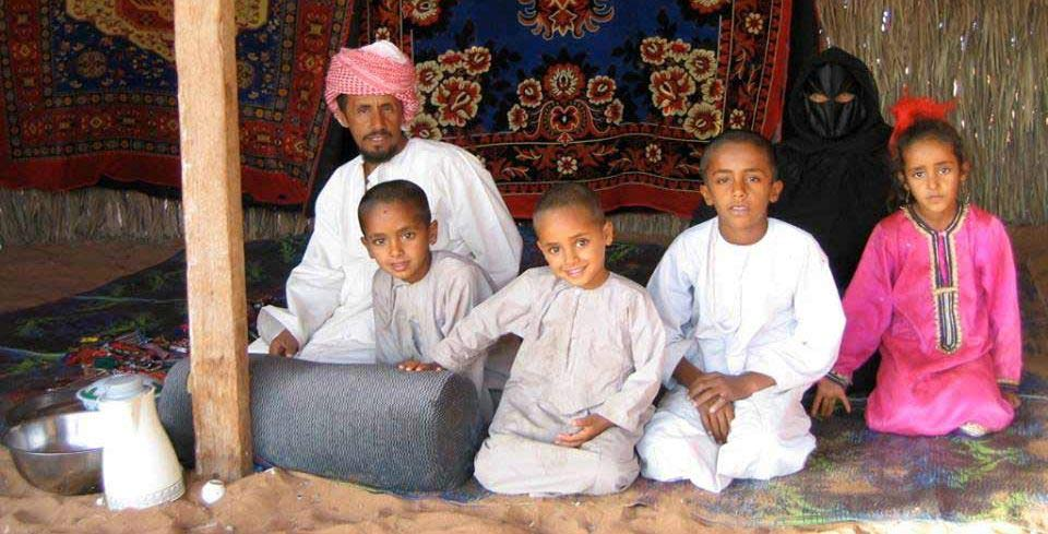 Bedouin Family Living in the UAE