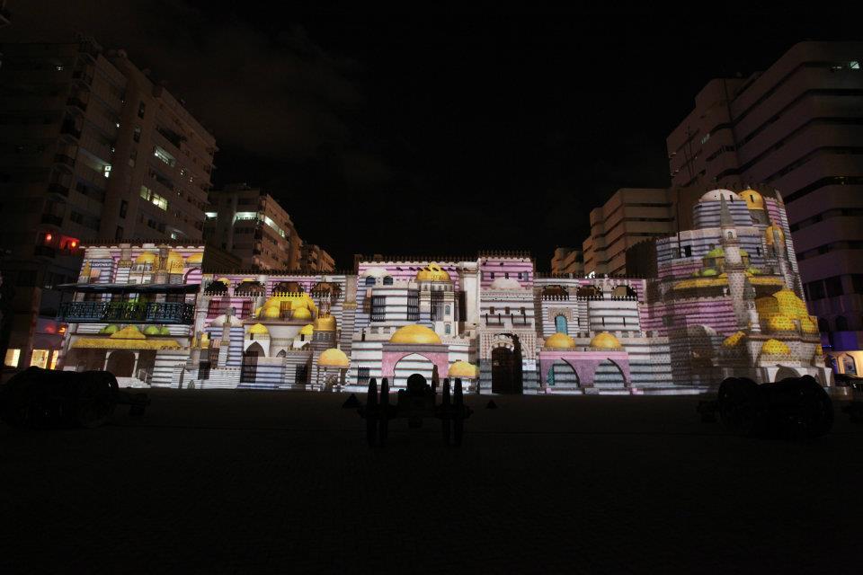 Al Hisn Fort Sharjah light festival 2019