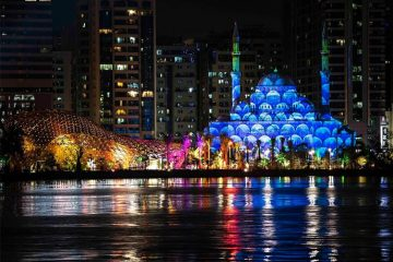 Masjid Al Noor Sharjah light festival 2019