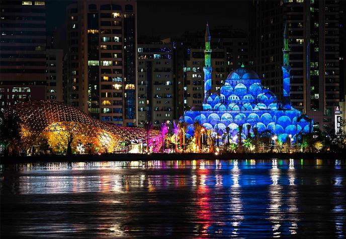 Masjid Al Noor Sharjah light festival 2019