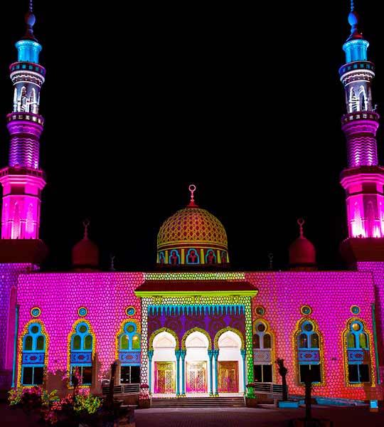 Masjid Sheikh Rashid Bin Ahmad Al Qassimi Sharjah light festival