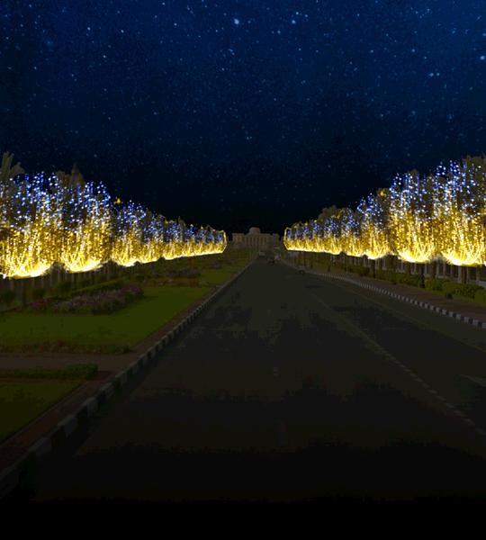 sharjah university city campus avenue sharjah light festival