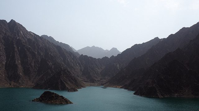 Hatta Mountain Dam Beautiful View