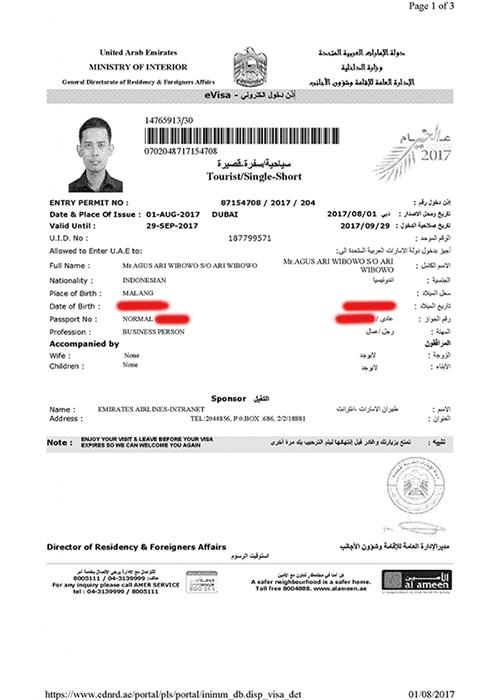 Uae Dubai Visa For Indonesian Nationalities