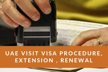 UAE Visit Visa Procedure Extension Renewal