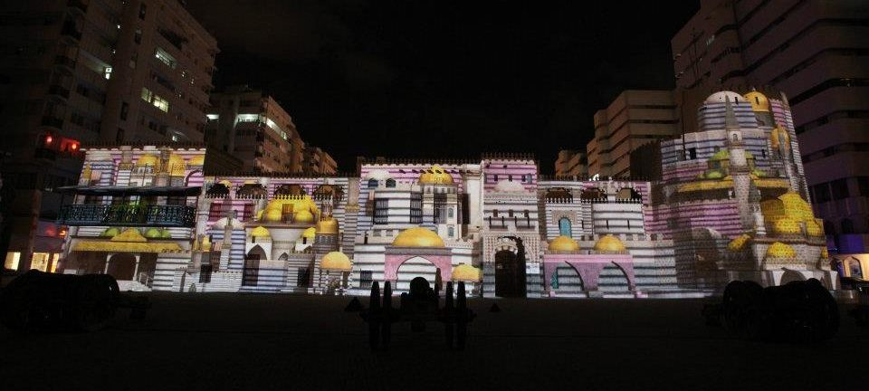 Al Hisn Fort Sharjah light festival 2019